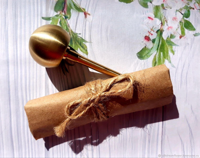 Круглая булька для цветов 30 мм усеченная, насадка для цветоделия, Инструменты для украшений, Ижевск,  Фото №1