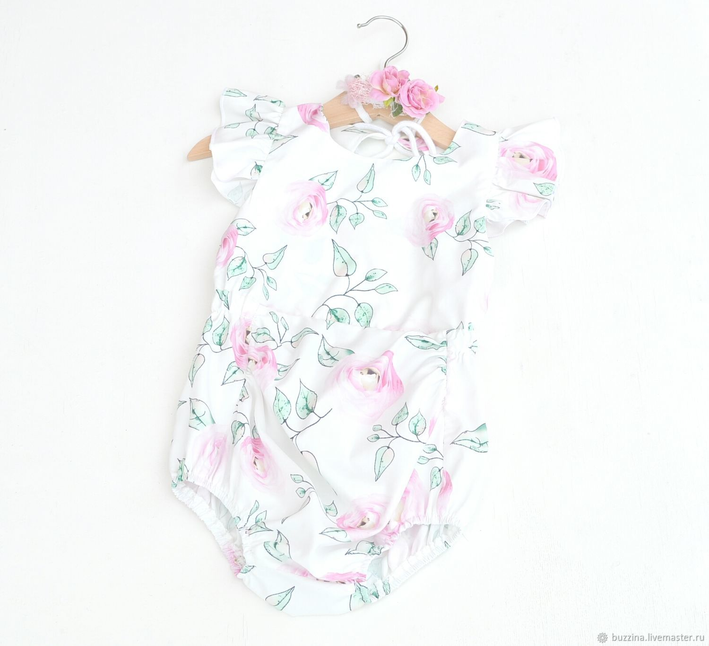 Clothes for Girls handmade. Livemaster - handmade. Buy Body for photo shoot girls 1 year old bandage.
