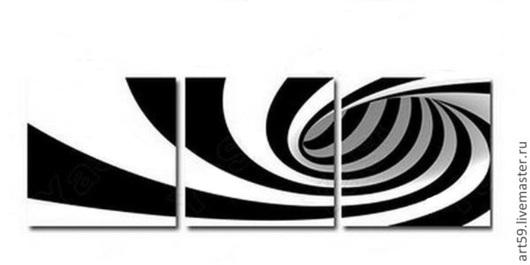 Символизм ручной работы. Ярмарка Мастеров - ручная работа. Купить Абстракция -Триптих. Handmade. Чёрно-белый, триптих, картина