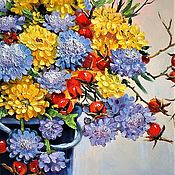Картины и панно handmade. Livemaster - original item Oil painting bouquet