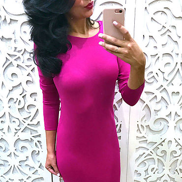 Clothing. Livemaster - original item Bodycon dress fuchsia. Handmade.