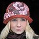 """Шляпы ручной работы. Заказать Шляпка """"Сложные оттенки"""". Рыжий. Shellen's HATS. Ярмарка Мастеров. Рыжий, розы, шляпа из фетра"""