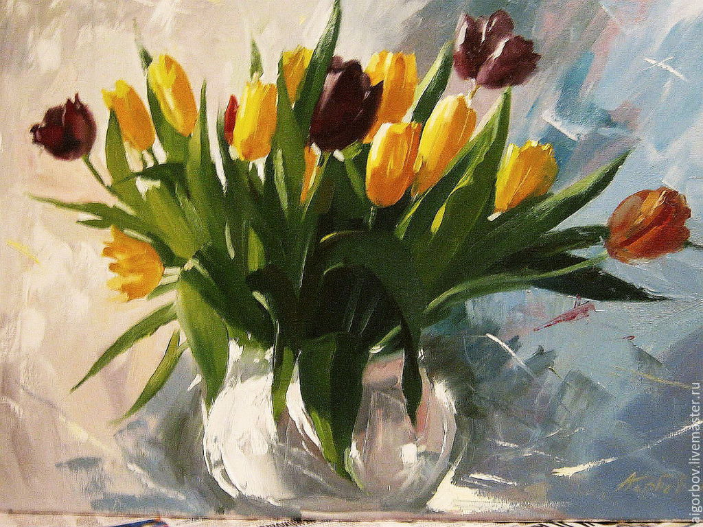 Букет тюльпанов, Картины, Москва, Фото №1