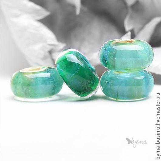 Бусины стеклянные лэмпворк для браслетов купить