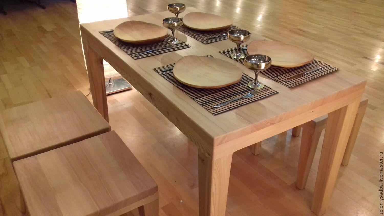 Столовый стол из дерева своими руками 96