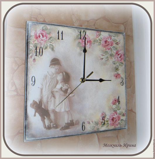 """Часы для дома ручной работы. Ярмарка Мастеров - ручная работа. Купить Часы настенные в стиле ретро  """"Нежность. Время..."""". Handmade."""