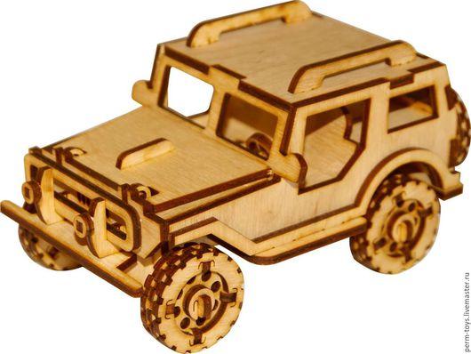 Техника ручной работы. Ярмарка Мастеров - ручная работа. Купить Джип_1. Handmade. Джип, автомобиль, констркутор, игрушка, авто, фанера