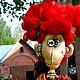 Ароматизированные куклы ручной работы. Ярмарка Мастеров - ручная работа. Купить Мадам Ку - ку и осень..... Handmade. Ярко-красный