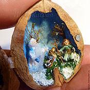 """Куклы и игрушки ручной работы. Ярмарка Мастеров - ручная работа Миниатюра """"12 месяцев"""" в грецком орехе. Handmade."""