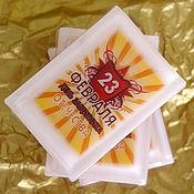 Подарки к праздникам ручной работы. Ярмарка Мастеров - ручная работа Мыло-мини C 23 февраля, полосатое, в подарочной упаковке с бантом. Handmade.