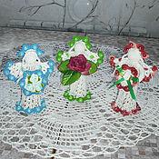 Подарки к праздникам ручной работы. Ярмарка Мастеров - ручная работа Вязаные ангелы. Handmade.