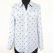 Blouses handmade. Livemaster - original item BLUE DREAM blue blouse with polka dots. Handmade.