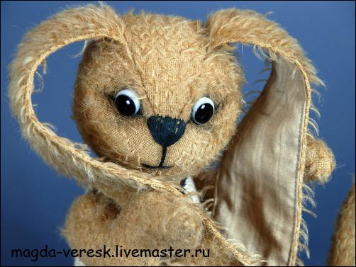 Мишки Тедди ручной работы. Ярмарка Мастеров - ручная работа. Купить Заяц Мотенька. Handmade. Мишки тедди, винтаж
