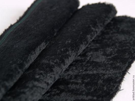 Куклы и игрушки ручной работы. Ярмарка Мастеров - ручная работа. Купить Вискоза гладкая чёрная антик 6 мм(Schulte, Германия, мишки Тедди). Handmade.