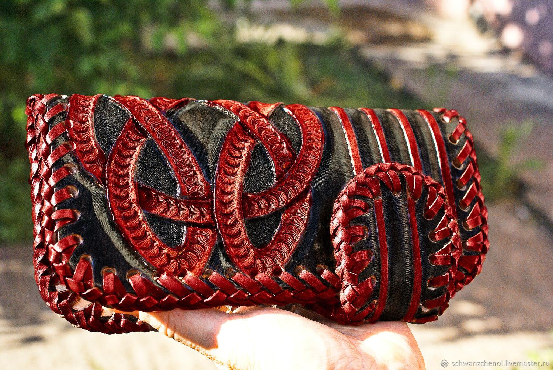 Leather wallet demonic Celtic knots, Wallets, Krasnodar,  Фото №1