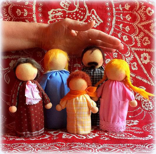 Вальдорфская игрушка ручной работы. Ярмарка Мастеров - ручная работа. Купить Куклы для кукольных спектаклей. Handmade. Вальдорфская игрушка
