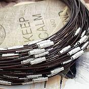 Материалы для творчества handmade. Livemaster - original item Choker with lock base for necklace brown (art. One thousand ninety seven). Handmade.
