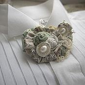 Украшения handmade. Livemaster - original item Brooch Pearl Etude. Handmade.