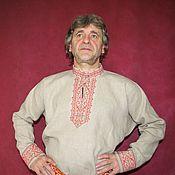 Народные рубахи ручной работы. Ярмарка Мастеров - ручная работа Рубаха мужская в славянском стиле Садко1. Handmade.