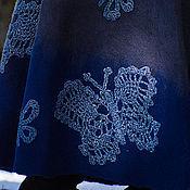 """Одежда ручной работы. Ярмарка Мастеров - ручная работа Юбка """"Ледяные бабочки"""", войлок. Handmade."""