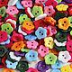 """Шитье ручной работы. Ярмарка Мастеров - ручная работа. Купить Пуговицы пластиковые цветные """"Цветочки"""". Handmade. Пуговицы, пуговицы декоративные"""