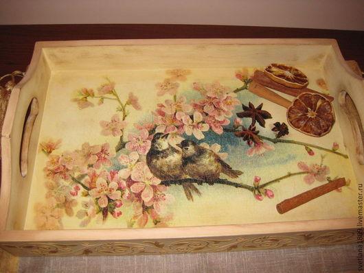 """Кухня ручной работы. Ярмарка Мастеров - ручная работа. Купить Поднос  """"Цветущая сакура"""". Handmade. Поднос, подарок на любой случай"""