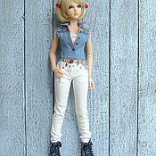 Куклы и игрушки ручной работы. Ярмарка Мастеров - ручная работа Одежда для БЖД кукол Джинсы белые и мини-капсула Реалистичная одежда. Handmade.