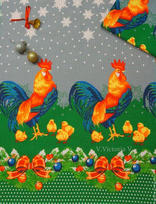 """Новый год 2017 ручной работы. Ярмарка Мастеров - ручная работа. Купить Полотенце вафельное """"Год Петуха"""". Handmade. Год петуха"""