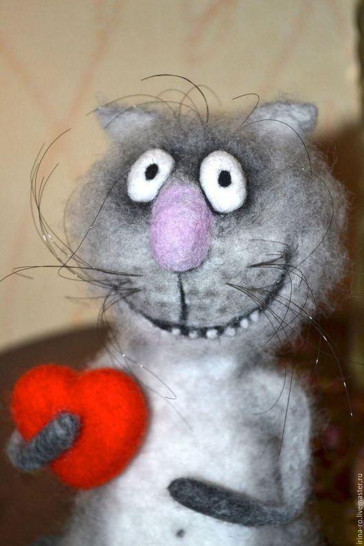 """Игрушки животные, ручной работы. Ярмарка Мастеров - ручная работа. Купить Кот """"С любовью...."""". Handmade. Подарок"""
