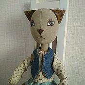 Куклы и игрушки ручной работы. Ярмарка Мастеров - ручная работа Интерьерная текстильная игрушка Кошечка. Handmade.