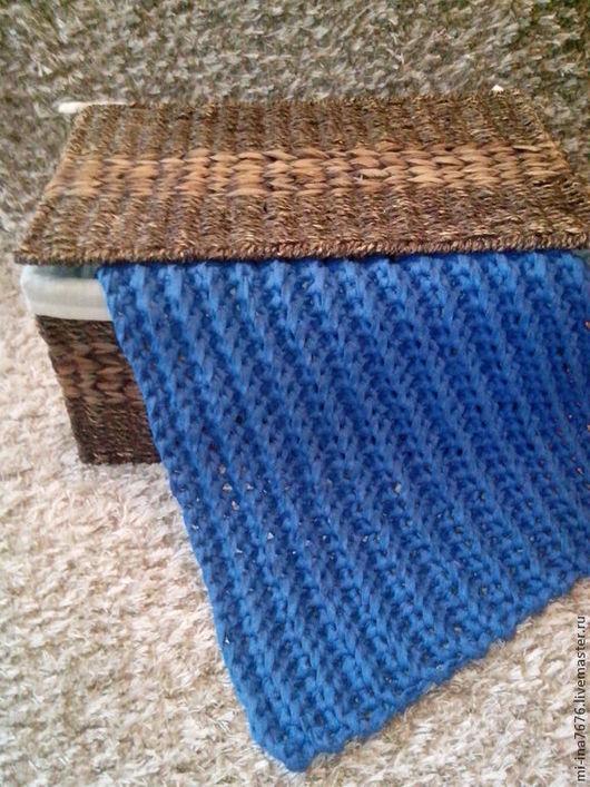 Текстиль, ковры ручной работы. Ярмарка Мастеров - ручная работа. Купить Коврик крупной вязки. Handmade. Тёмно-синий