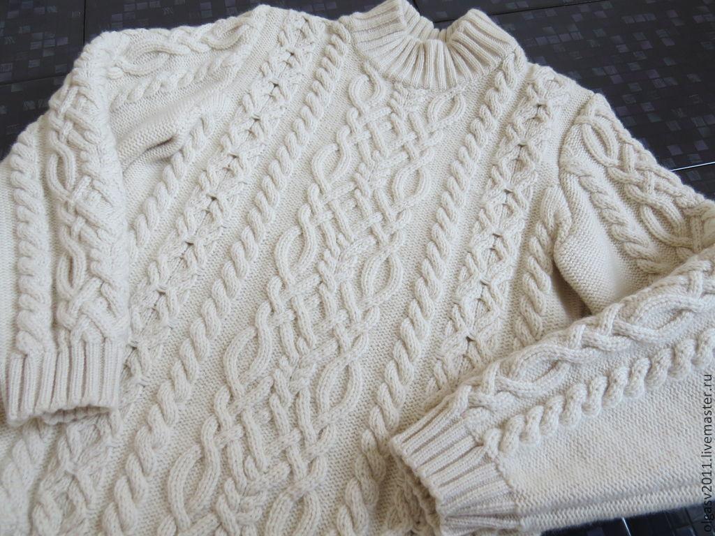 Детский пуловер с косами
