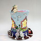"""Ночники ручной работы. Ярмарка Мастеров - ручная работа Ночник """"Волшебная шляпа Мумми-Троллей"""". Керамика. Handmade."""