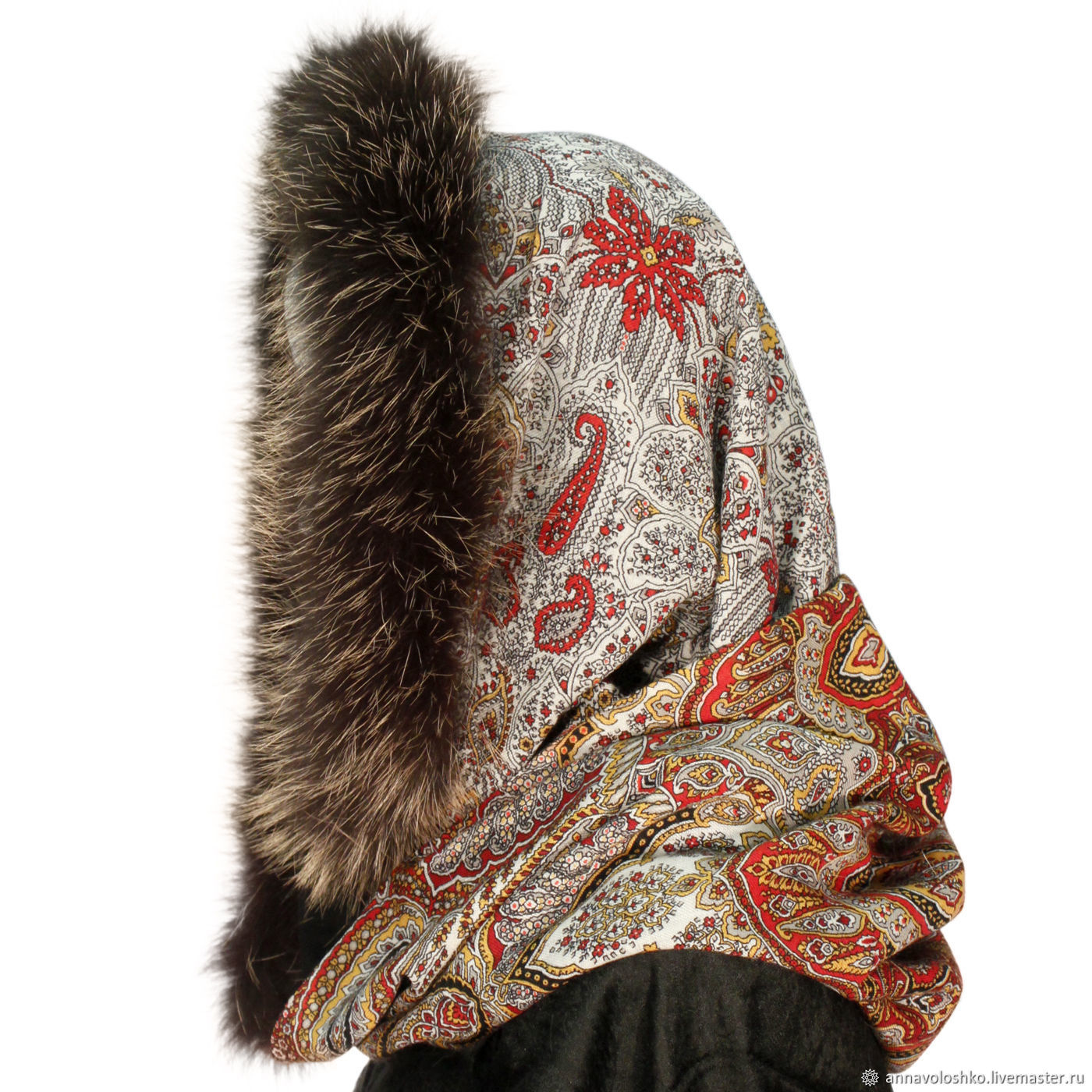 Snood-a scarf with fur trimming 'Royal', Snudy1, Moscow,  Фото №1