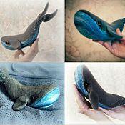 Куклы и игрушки ручной работы. Ярмарка Мастеров - ручная работа синий-синий кит.. Handmade.