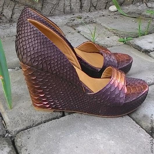 Обувь ручной работы. Ярмарка Мастеров - ручная работа. Купить Туфли летние. Handmade. Коричневый, туфли, туфли женские