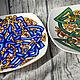 Кельтское блюдо со змеями. Блюдо. RognedaCraft. Интернет-магазин Ярмарка Мастеров.  Фото №2