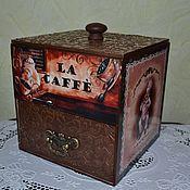 """Для дома и интерьера ручной работы. Ярмарка Мастеров - ручная работа Короб для кофе и сладостей """"La Caffe"""". Handmade."""