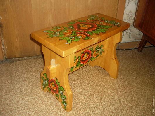 Мебель ручной работы. Ярмарка Мастеров - ручная работа. Купить скамейка детская. Handmade. Комбинированный, скамья из дерева, акриловые краски