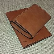 Сумки и аксессуары handmade. Livemaster - original item Set Small wallet genuine leather. Passport cover .. Handmade.