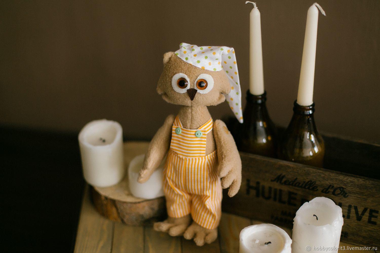 Набор для шитья, Текстильная игрушка «Филин Берт» Арт. 009, Тильды, Москва, Фото №1