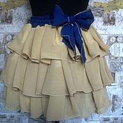 """Одежда ручной работы. Ярмарка Мастеров - ручная работа Шифоновая юбка """" У самой кромки моря..."""". Handmade."""
