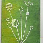 Картины и панно ручной работы. Ярмарка Мастеров - ручная работа Flora I. Handmade.