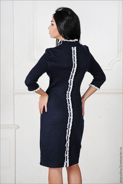 """Платья ручной работы. Ярмарка Мастеров - ручная работа. Купить Платье """"Мадемуазель"""". Handmade. Тёмно-синий, платье для вечеринки"""