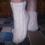 Аксессуары handmade. Livemaster - original item Women`s knitted socks `White fire`. Handmade.