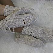 Варежки и носочки Совы (комплект),купить варежки,купить носки,носки