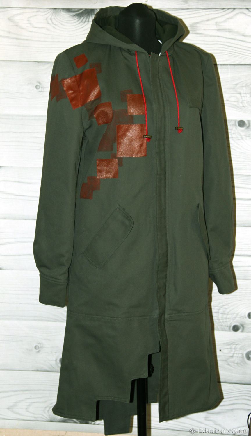 Parka for cosplay by anime Nagito Danganronpa by hand painted, Parkas jacket, St. Petersburg,  Фото №1
