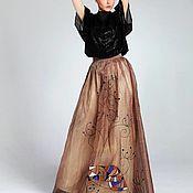 Вечерний костюм с ручной росписью