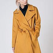 "Одежда handmade. Livemaster - original item Flared coat ""Mustard"". Handmade."