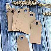 Материалы для творчества handmade. Livemaster - original item Tag: Kraft cardboard (rectangular). Handmade.